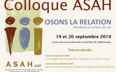 Colloque Asah 19-20 septembre 2019